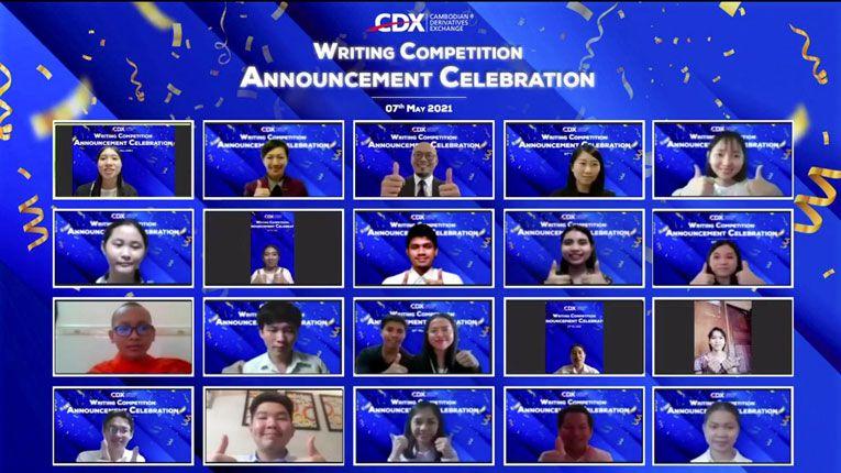 CDX为前25名参赛者举办在线大学生征文比赛颁奖庆典